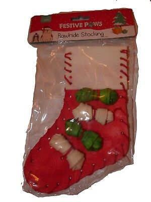 Rawhide Christmas Stocking Treats For Dogs Food Xmas Gift