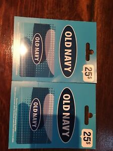 Old navy gift cards 50$