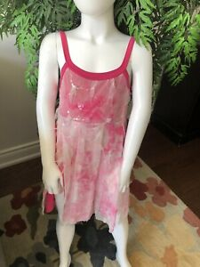 Pretty pink dance costume (Child Large)