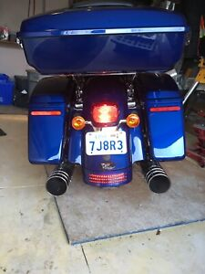 Stock saddlebags and fender extension