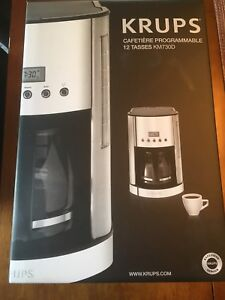 Krups 12 Cup Programmable Coffee Machine - KM730D - Brand New