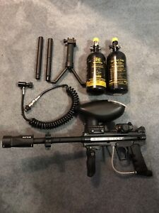 BT Combat ERC paintball marker and accessories