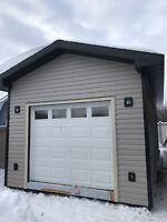 Fence , deck , garage build , siding