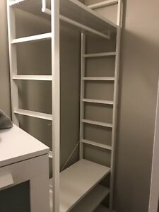 Free, like new, closet organizer from ikea