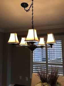 Dining room chandelier and wall scones