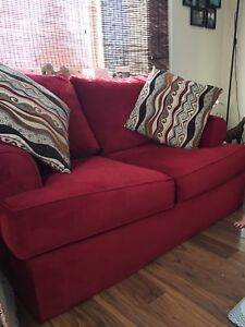 3 piece couch set. 2 couches, ottoman $150