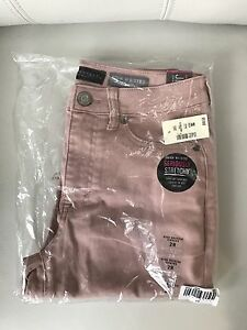 New Aeropostale high waisted stretchy jeggins size 2R denim