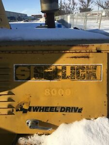 8000 Sellick 4 wheel drive forklift