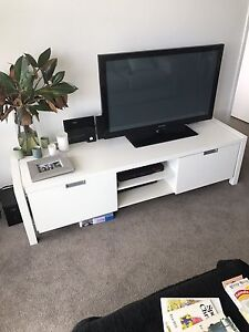 White TV cabinet Darling Point Eastern Suburbs Preview