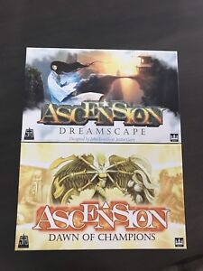 Ascension Dreamscape and Dawn Of Champions games. $55 for two