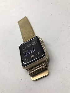 42mm gold apple watch. +3 additional bands