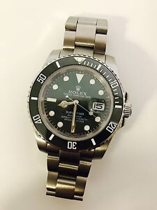 Rolex super watch brand new green face Rushcutters Bay Inner Sydney Preview