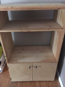 Wall unit made of solid wood