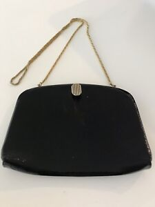 OROTON black patent leather bag Woody Point Redcliffe Area Preview