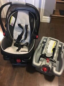 Graco Snugride car seat with extra base