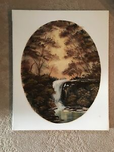 Oil Paint on Canvas WaterFall