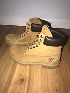 Original men's leather timberlands new size 9.5