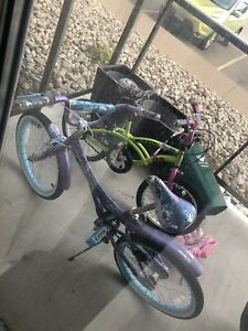 Girl's bycicles for sale