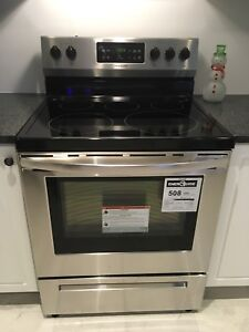 New Stainless Steel Electric Frigidaire Range