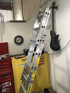 16 foot aluminum ladder used once