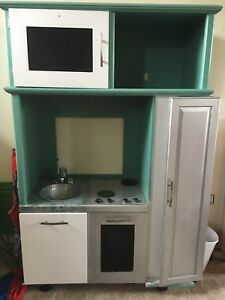 Play kitchen from entertainment center
