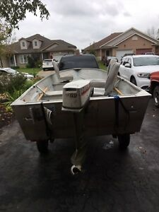 1992 16ft Princecraft Starfish Boat 1977 9.9 Johnson & Trailer