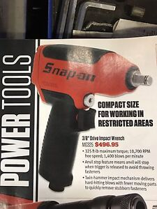 Snap-on3/8 impact gun with sockets and extensions