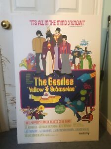 Mounted Beatles poster