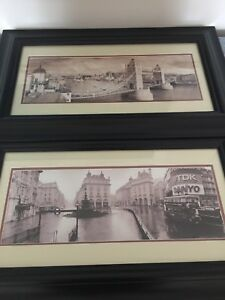Framed photos of London