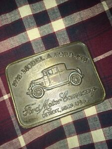 1970's vintage Ford model A belt buckle