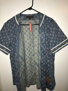 LOUIS VUITTON x SUPREME baseball jersey