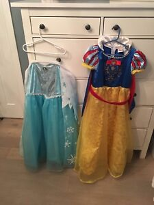 Snow White and Elsa costumes