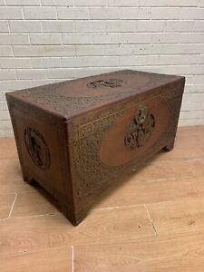 Vintage rustic ornate blanket box storage chest cabinet Carlisle Victoria Park Area Preview