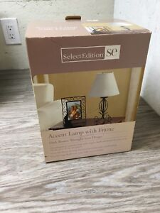 End table lamp and picture frame (new in box)