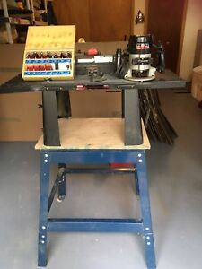 Craftsman router, stand, and router bits