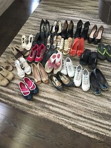 25 Pairs of Assorted Women's Shoes - used Size 8