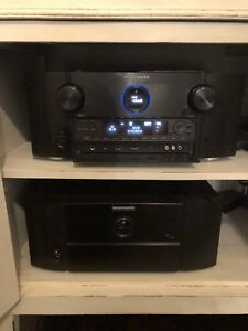 Marantz receiver stereo home theatre 7005 and amp 7055