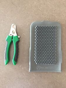 Dog Nail Clippers and Grooming Brush