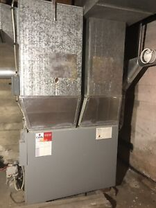 Oil forced air furnace with duct work. Good working condition.