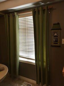 Grommet drapes with matching frame
