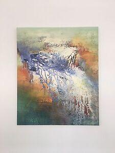Large Canvas Print 'Coastal Swirl' Collingwood Yarra Area Preview