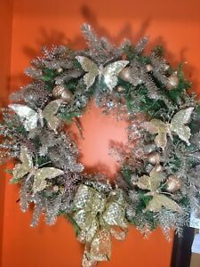 Rose gold lg Christmas wreath