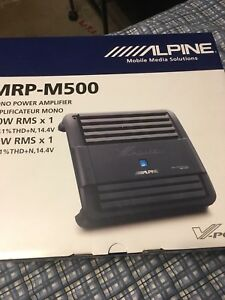 Alpine car sub amp mono 500rms