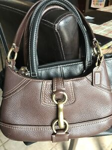 Coach leather mini handbag