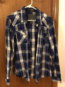 Mens flannel shirt with side zips