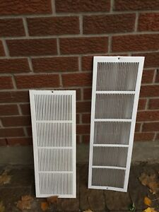 2 Vent wall plates - white metal