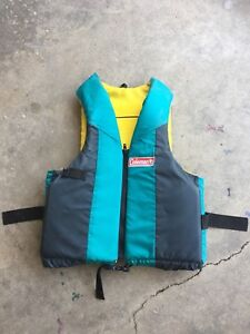 Coleman PFD life jacket, great condition