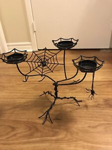 Candle holders , double spiders 30$ single 3 cup spider 15$