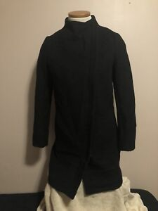 NOUL / Oak and Fort Black Women Trench Coat Jacket Extra Small
