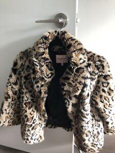 Juicy Couture faux fur leopard print jacket